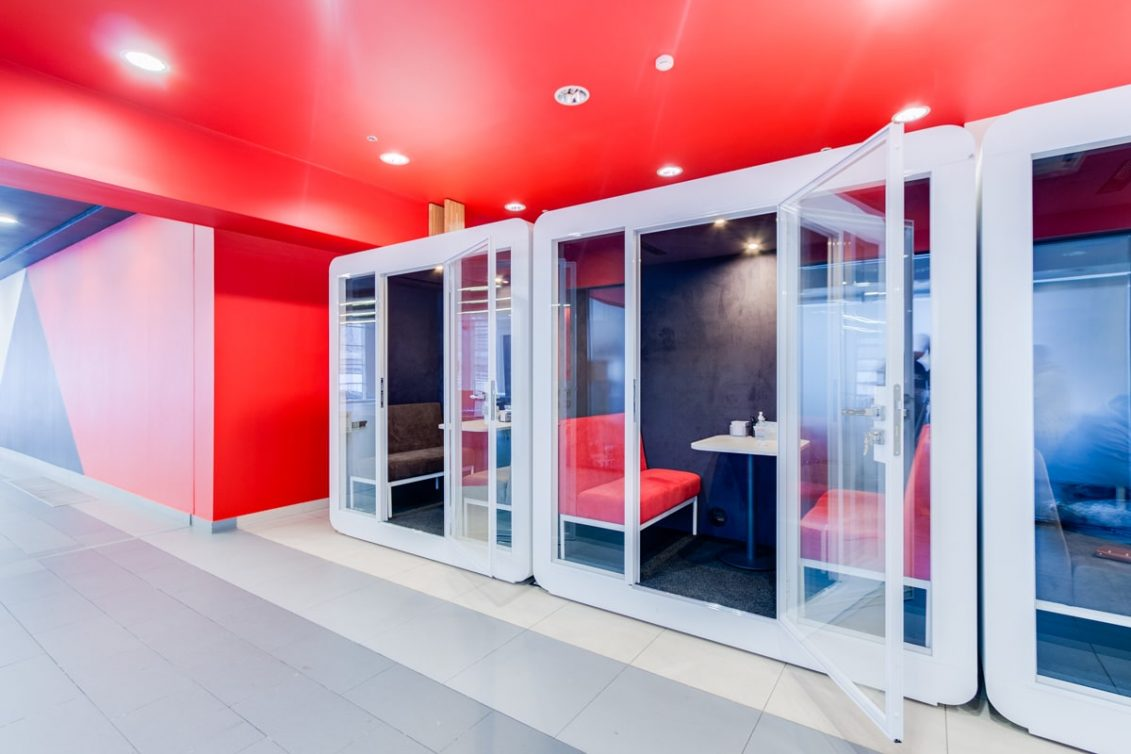 Acoustic booths: Look Wood Office Project